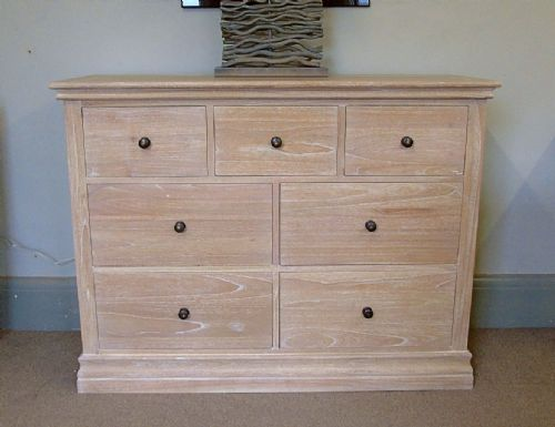 Atlow Oak Wide 7 Drawer Chest of Drawers